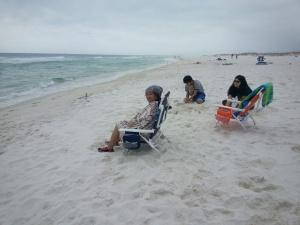 Grandma, Henry, and the Princess on the Beach