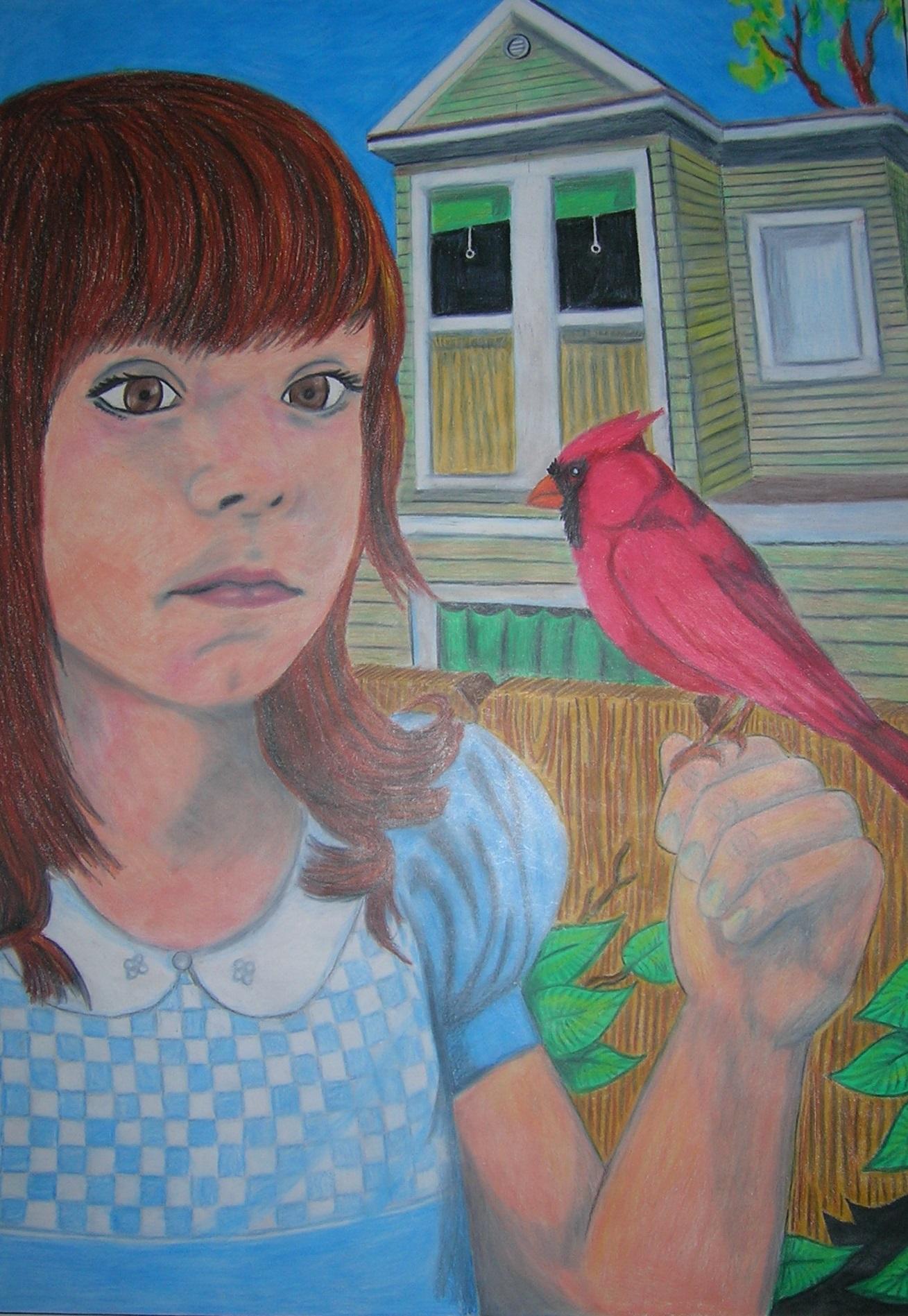 girl n bird
