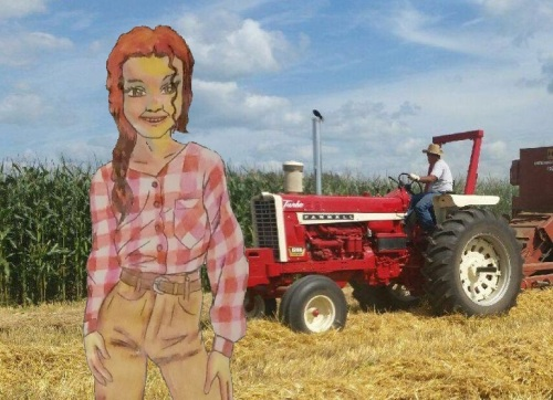 Farmgirl is adapted from a picture borrowed from the Belmond Area Arts Council.