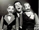 Paul Winchell with Jerry Mahoney and Knucklehead Smiff