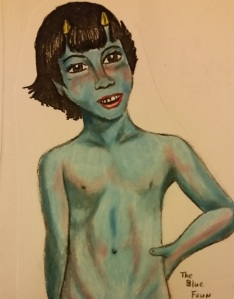 The Blue Faun who represents the lovely melancholy sensuality that informs my wordy little life.