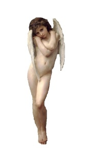 angel by Adolphe-William Bouguereau (1825-1905)