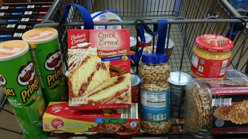 My grocery cart at Aldi's.