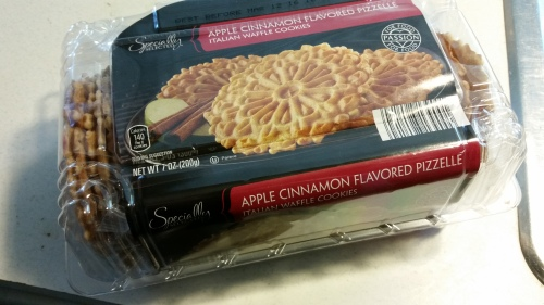 You probably didn't spot these in my cart, but these are delicious Italian apple-cinnamon cookies for less than $2!!!