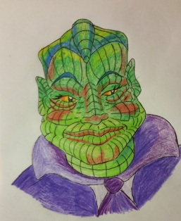 Senator Tedhkruzh, the lizard-man from the doomed planet Galtorr Prime.