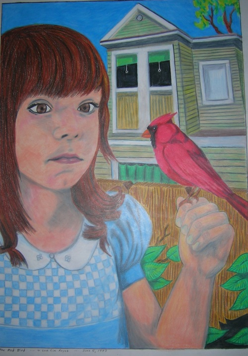 The Girl with the Red Bird