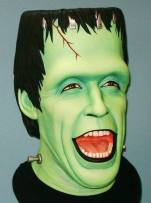 A bust of Herman Munster