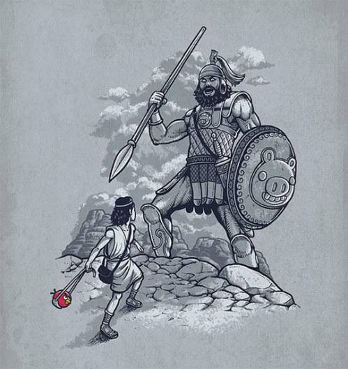 funny-David-Goliath-angry-birds-art