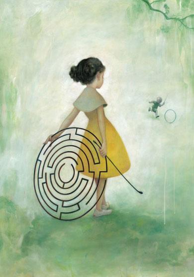 little-girl-maze-art