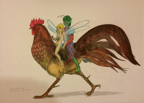 princess-on-rooster