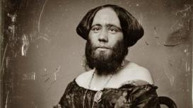 "Clofillia, Josphine [Madame Clofullia, P.T. Barnum's ""Bearded Lady of Geneva""]. Daguerreotype by Thomas M. Easterly, 1853. Photographs and Prints Collections. Missouri History Museum. Easterly 321. NS 17387. Scan © 2008, Missouri History Museum."