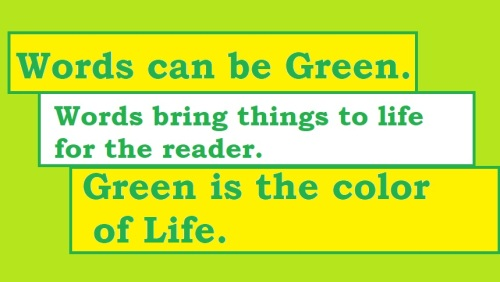 Green words