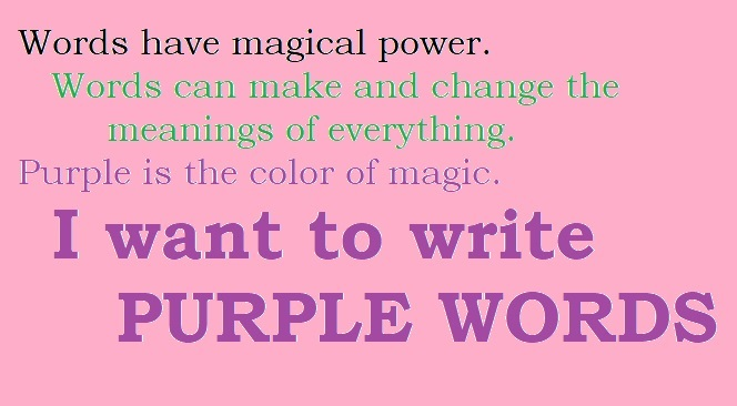 Purple words