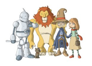 wizard_of_oz_characters_by_ganando_enemigos-d4ag2e0